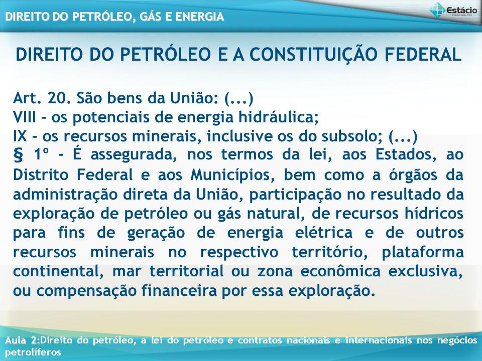 DIREITO DO PETRÓLEO E A CONSTITUIÇÃO FEDERAL