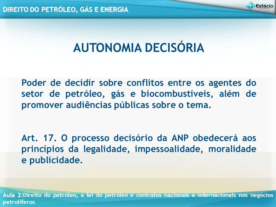 AUTONOMIA DECISÓRIA