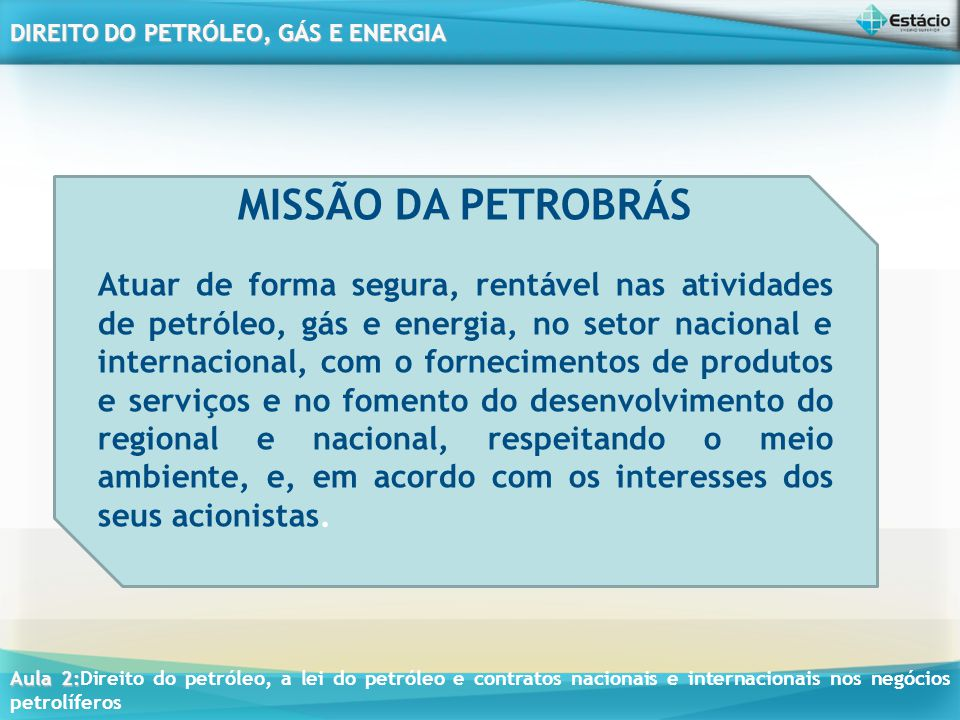 MISSÃO DA PETROBRÁS