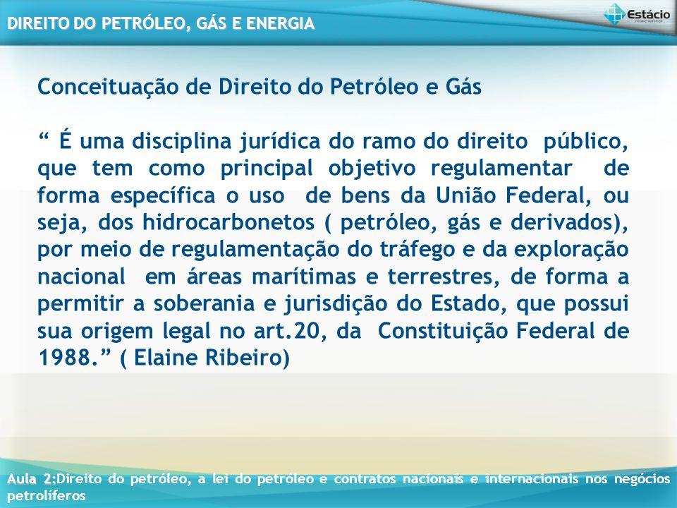 Conceituação de Direito do Petróleo e Gás