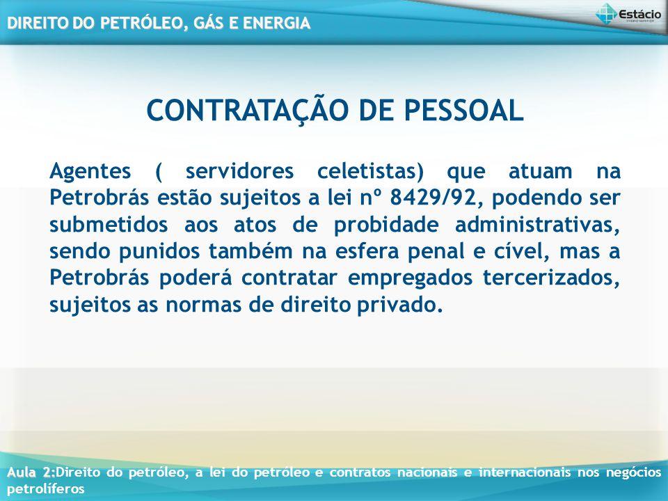 CONTRATAÇÃO DE PESSOAL