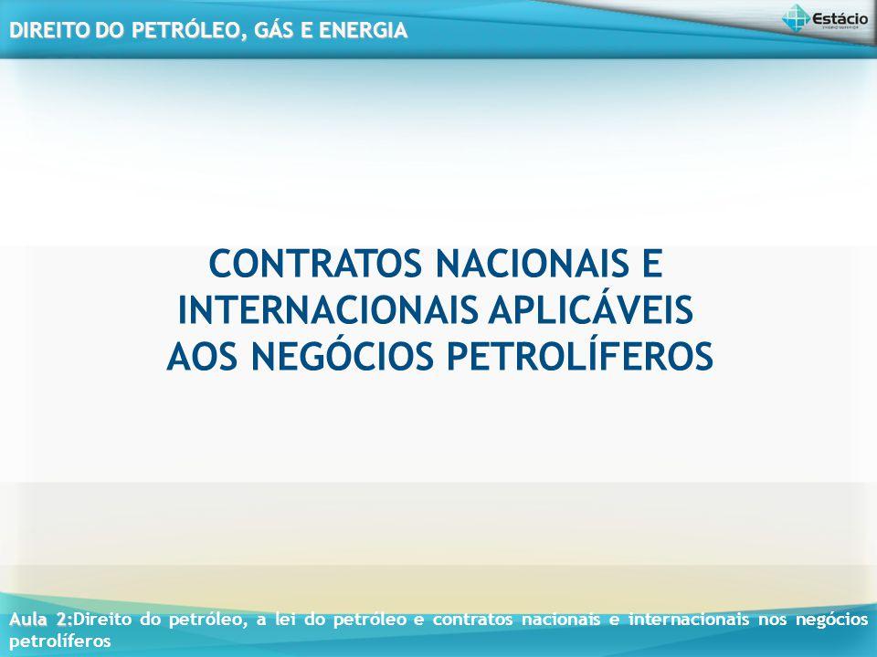 CONTRATOS NACIONAIS E INTERNACIONAIS APLICÁVEIS