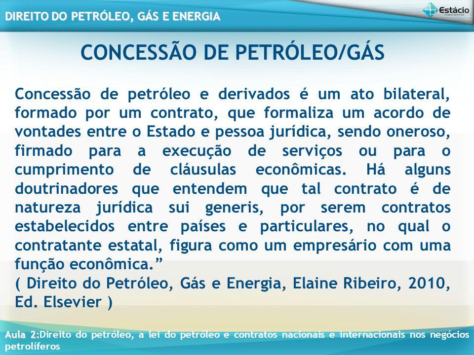 CONCESSÃO DE PETRÓLEO/GÁS