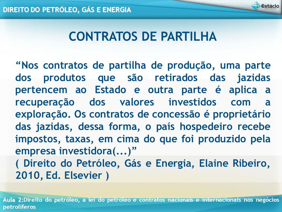 CONTRATOS DE PARTILHA