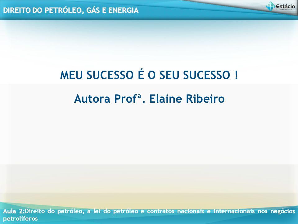 MEU SUCESSO É O SEU SUCESSO ! Autora Profª. Elaine Ribeiro