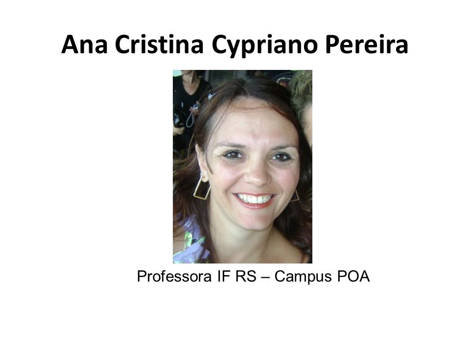 Ana Cristina Cypriano Pereira