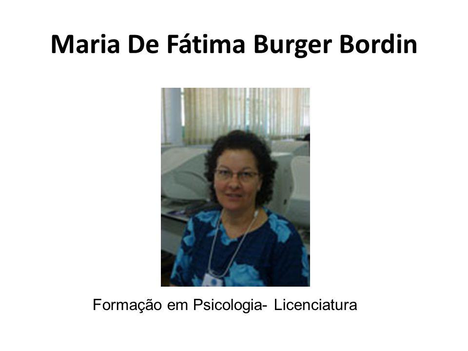 Maria De Fátima Burger Bordin