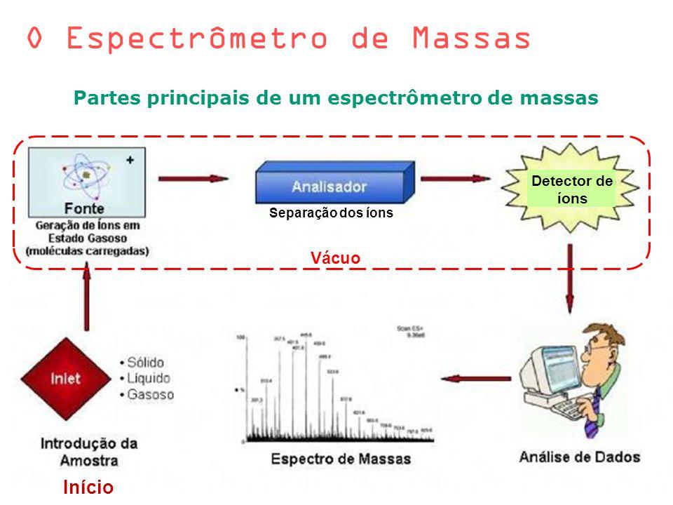 Partes principais de um espectrômetro de massas