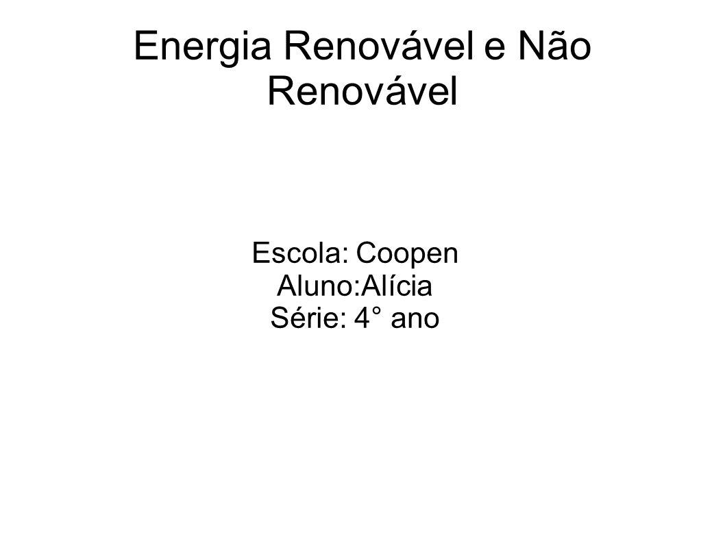 Energia Renovável e Não Renovável
