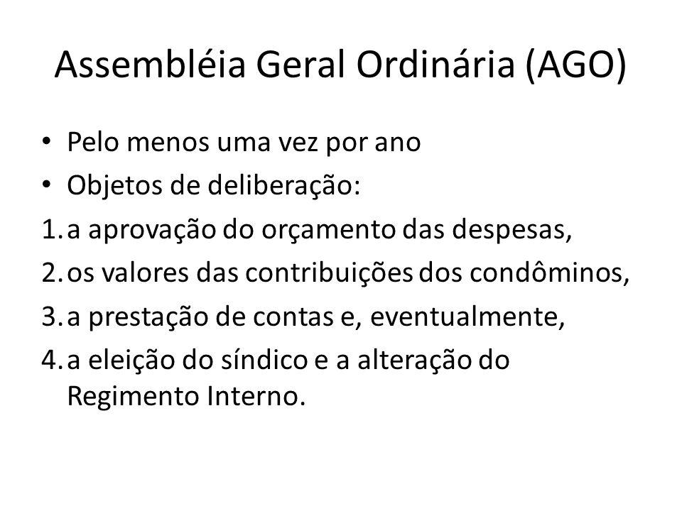 Assembléia Geral Ordinária (AGO)