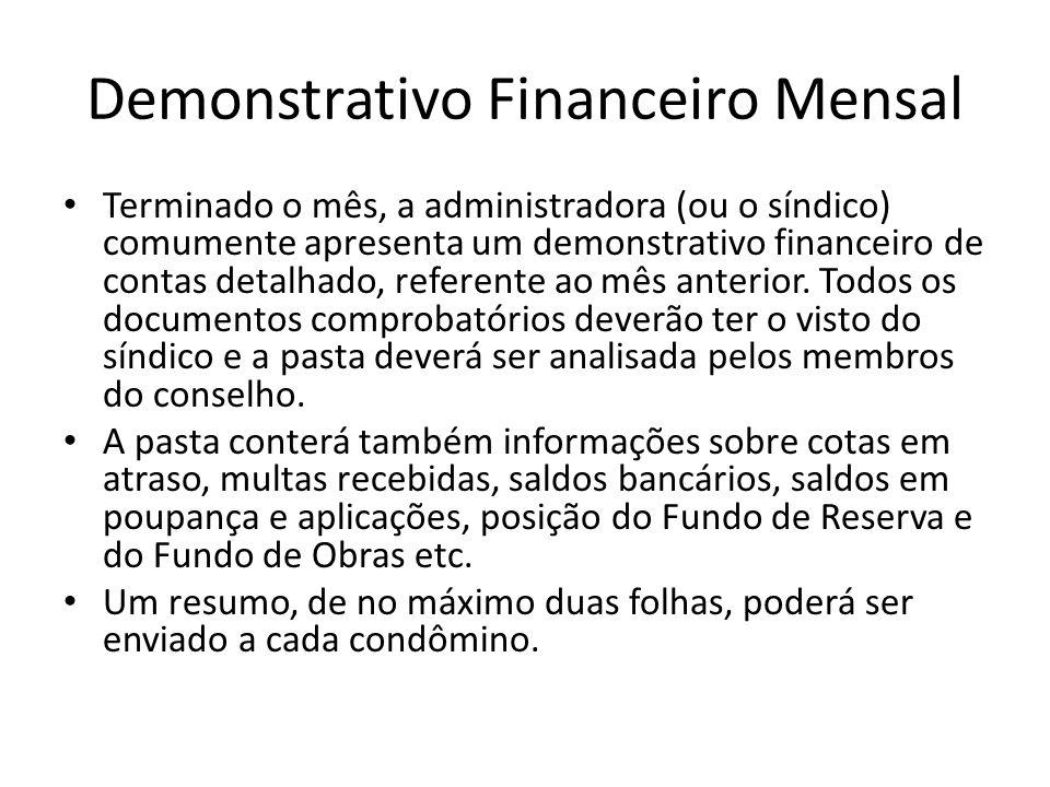 Demonstrativo Financeiro Mensal