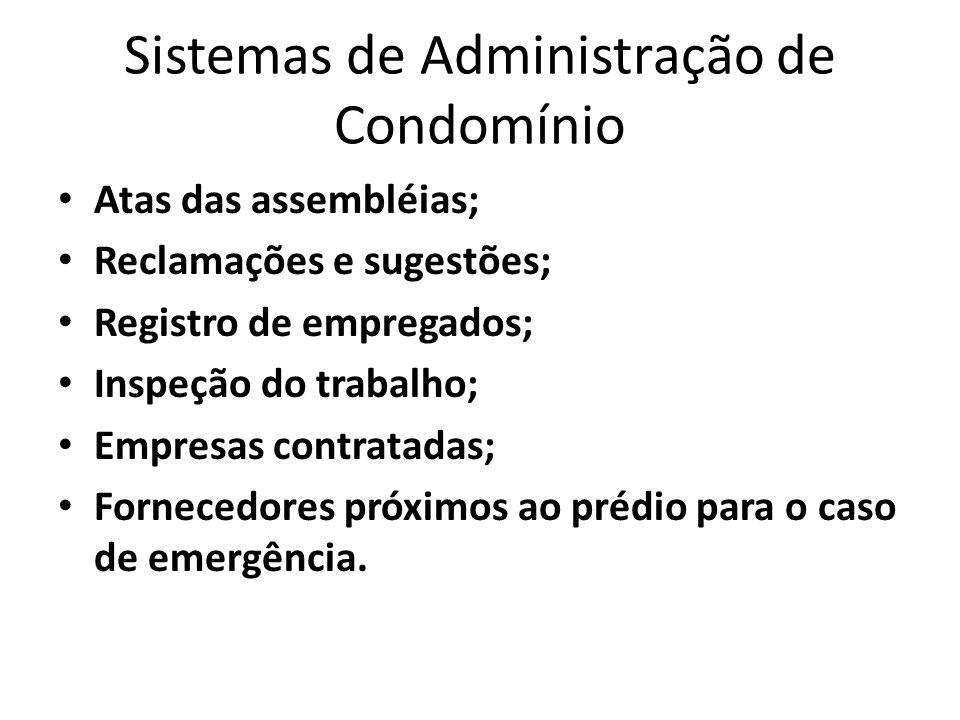 Sistemas de Administração de Condomínio