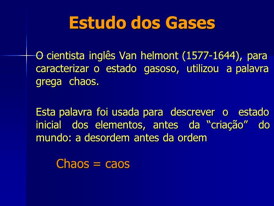 Estudo dos Gases Chaos = caos