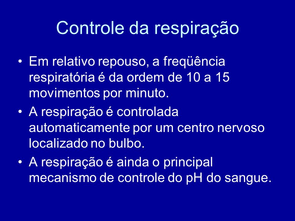 Controle da respiração