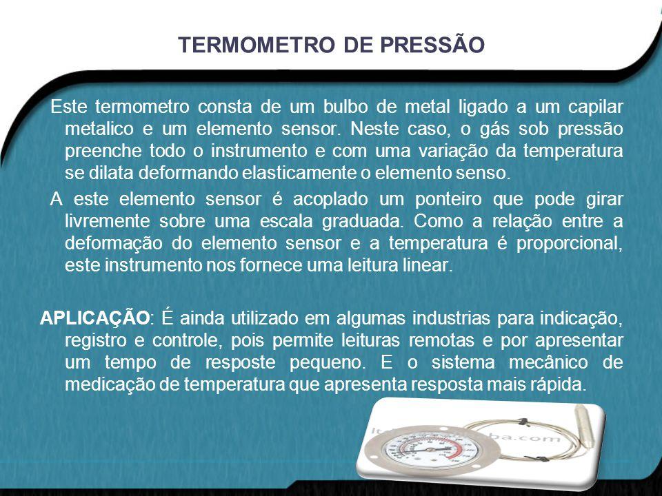 TERMOMETRO DE PRESSÃO