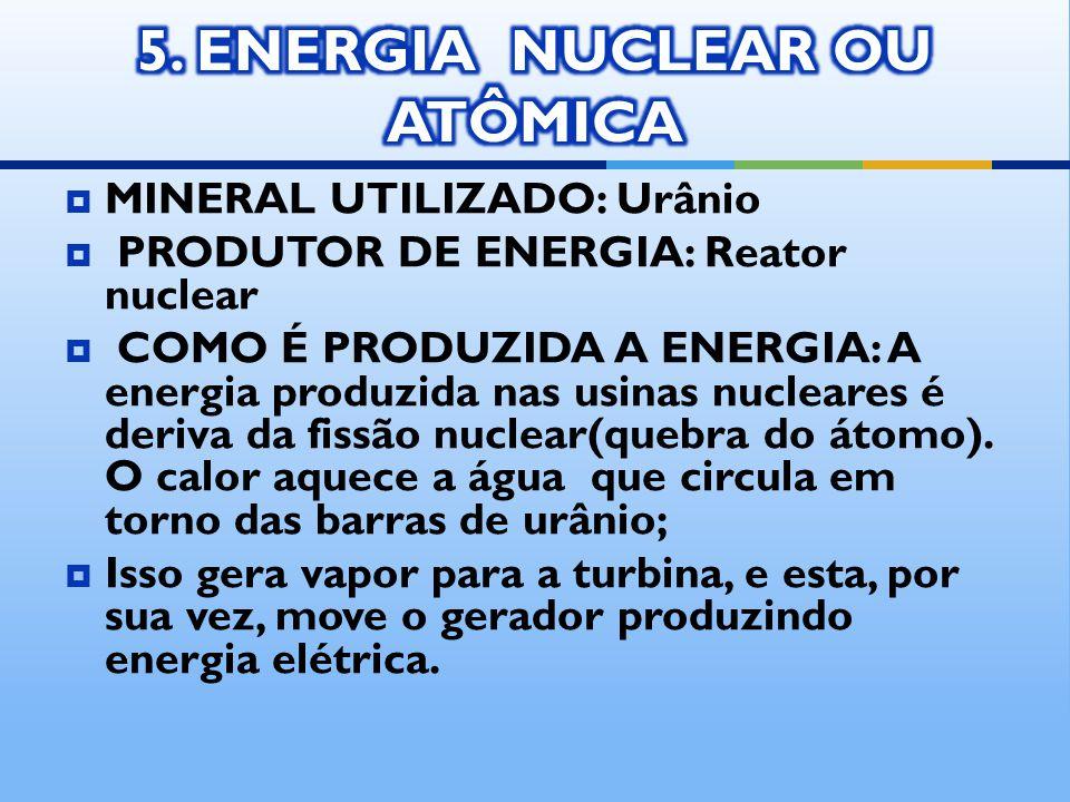 5. ENERGIA NUCLEAR OU ATÔMICA