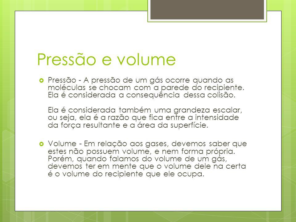 Pressão e volume