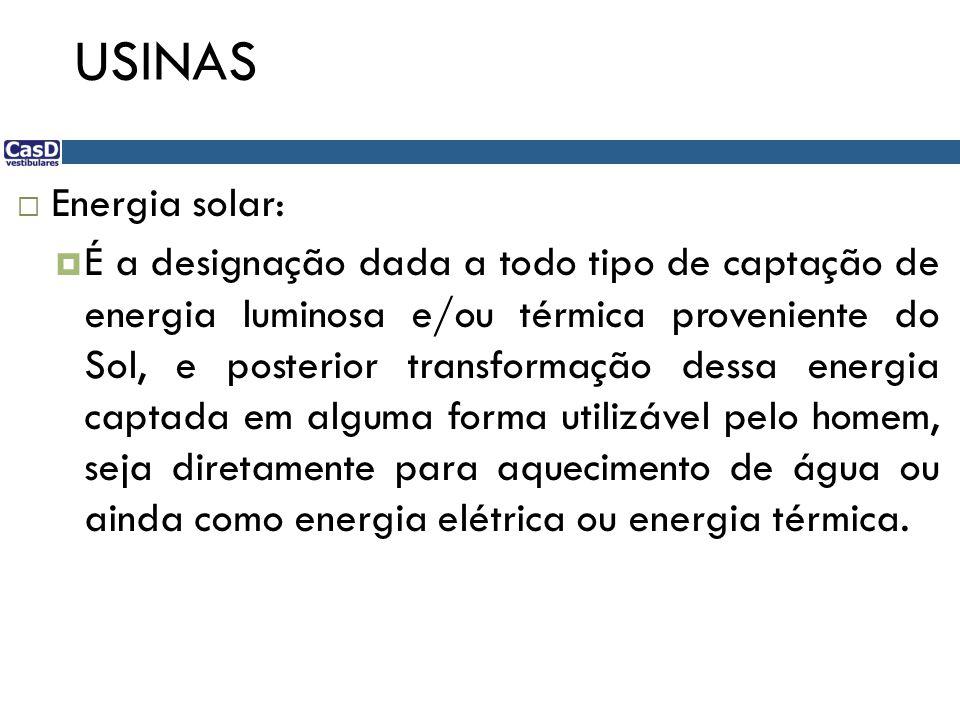 USINAS Energia solar: