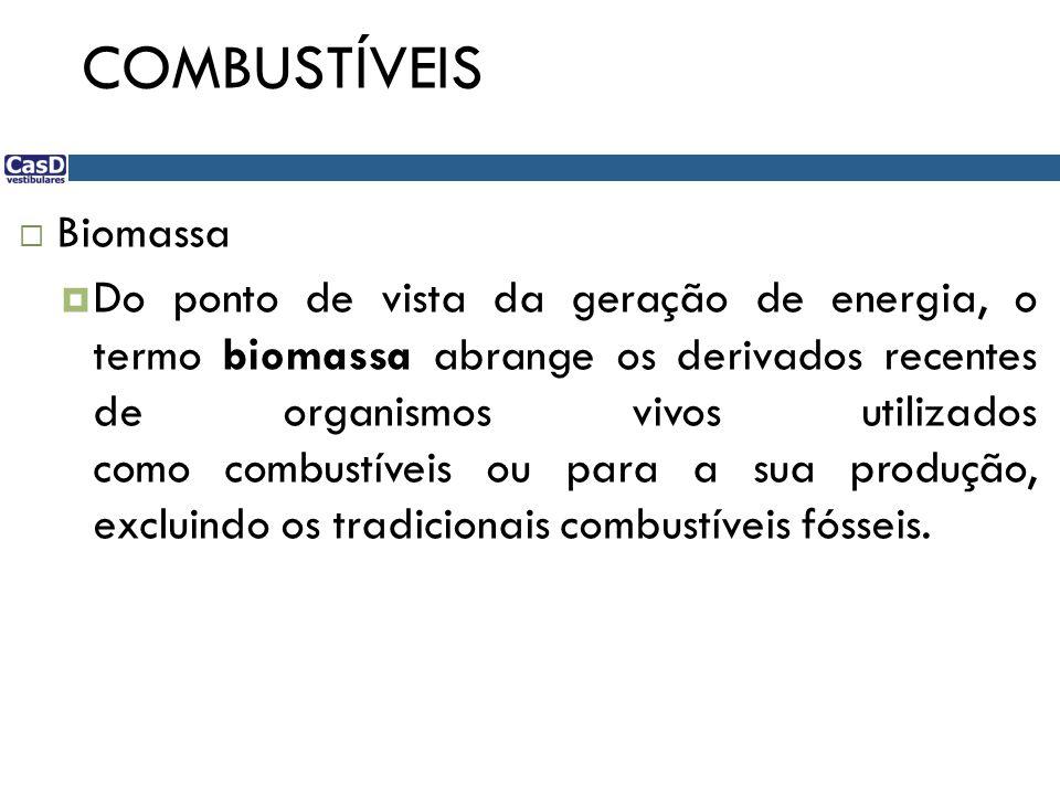 COMBUSTÍVEIS Biomassa
