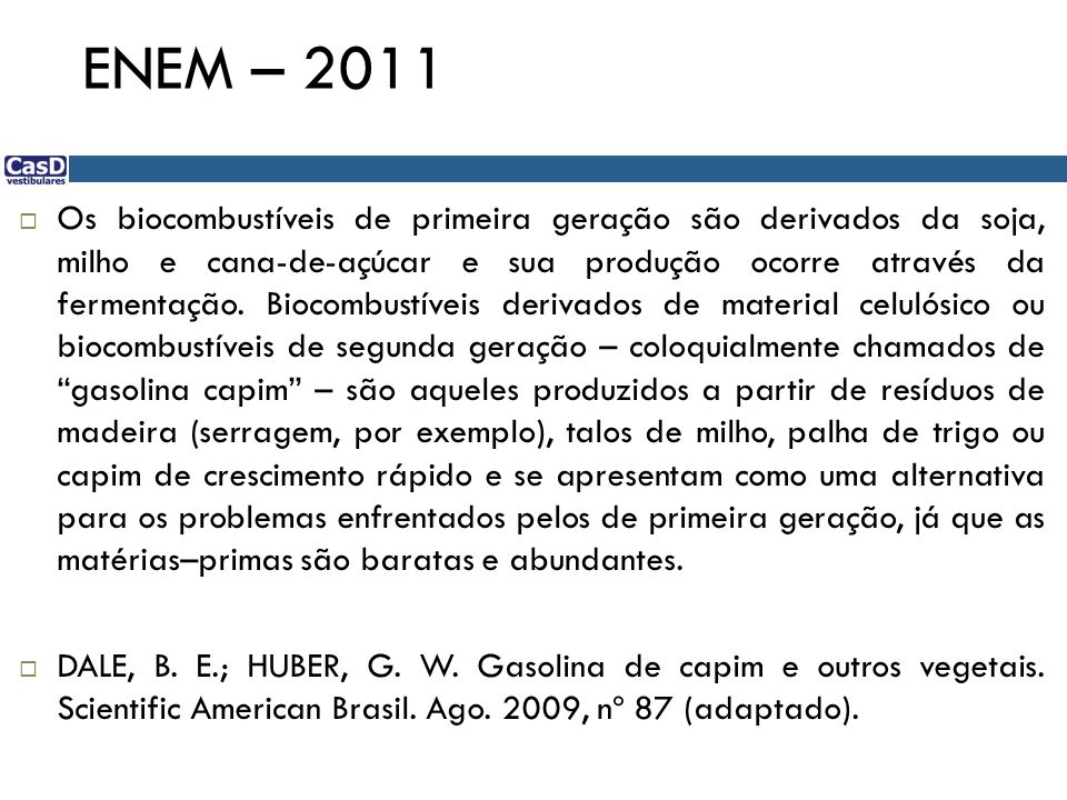 ENEM – 2011