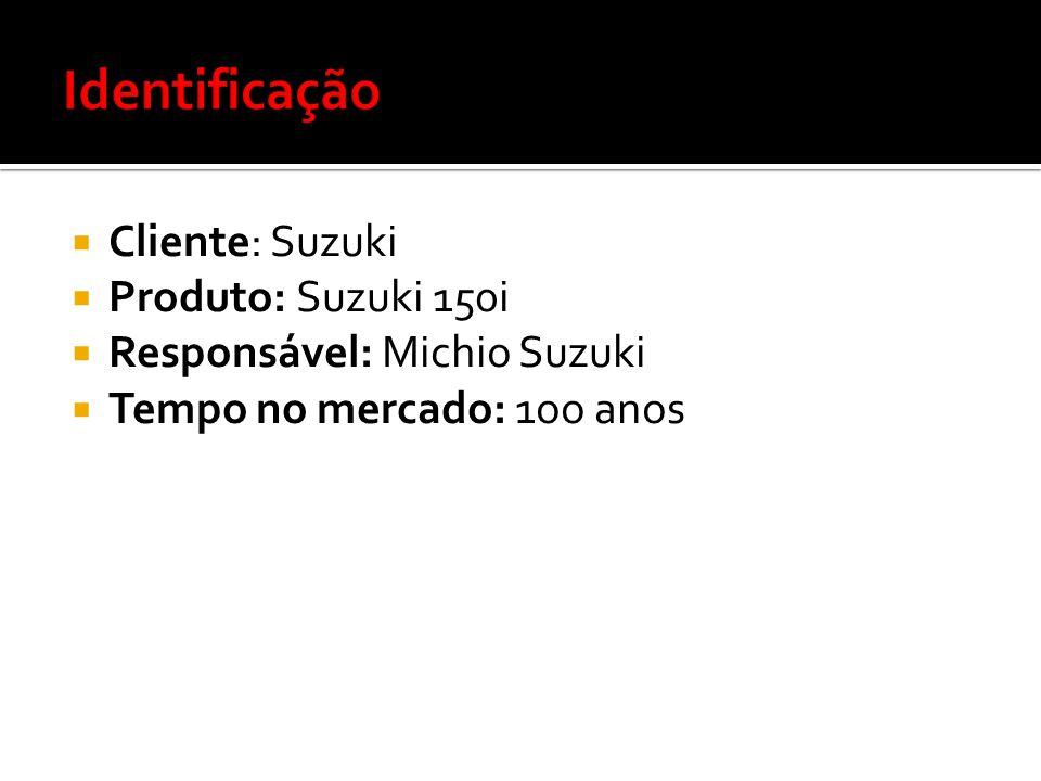 Identificação Cliente: Suzuki Produto: Suzuki 150i