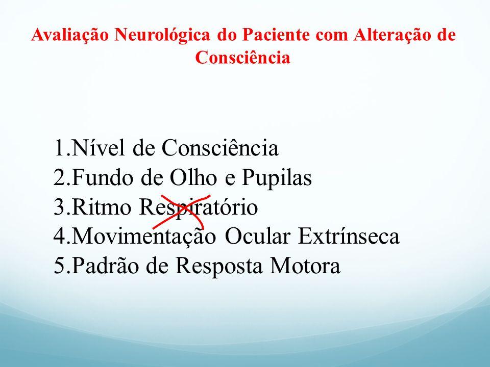 Avaliação Neurológica do Paciente com Alteração de Consciência