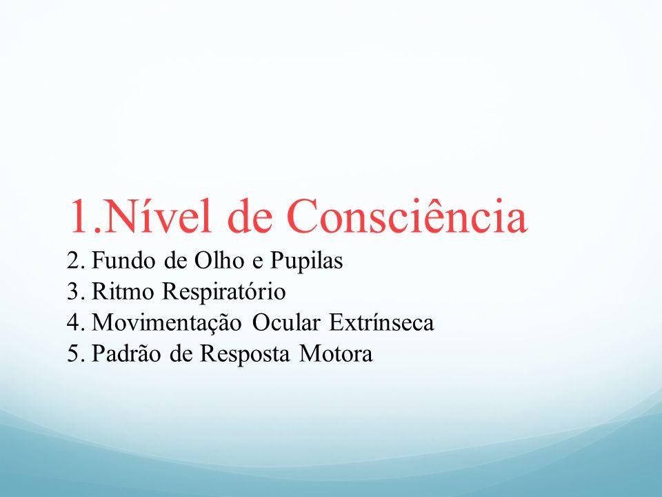 Nível de Consciência Fundo de Olho e Pupilas Ritmo Respiratório