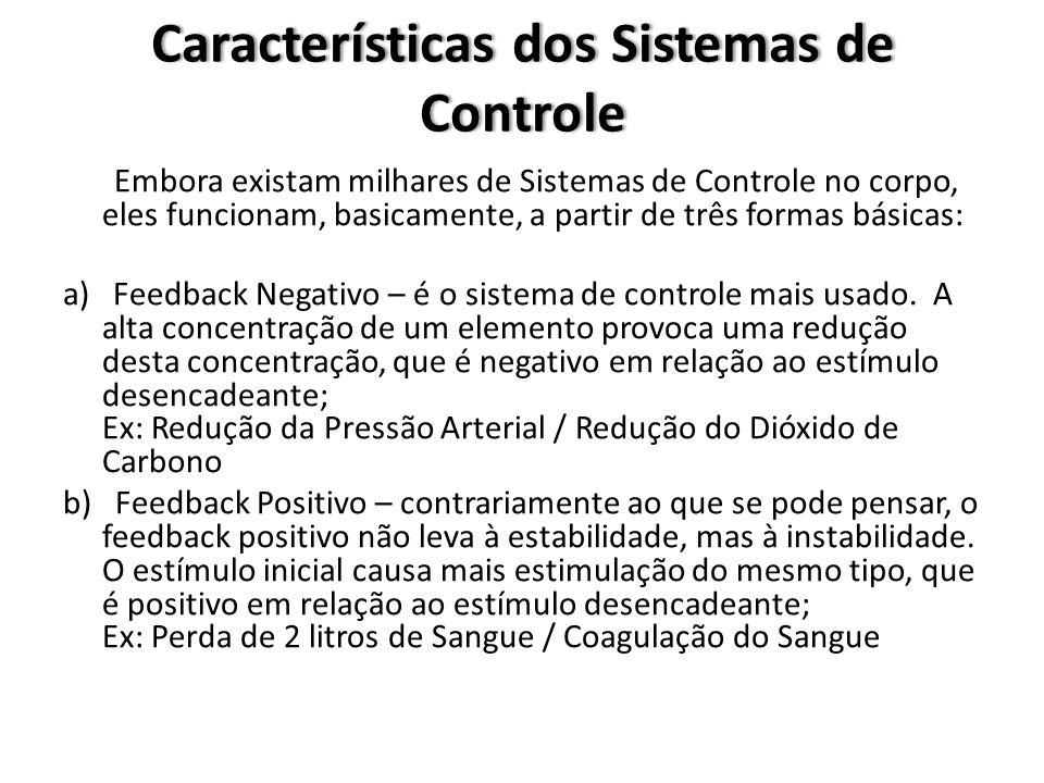 Características dos Sistemas de Controle