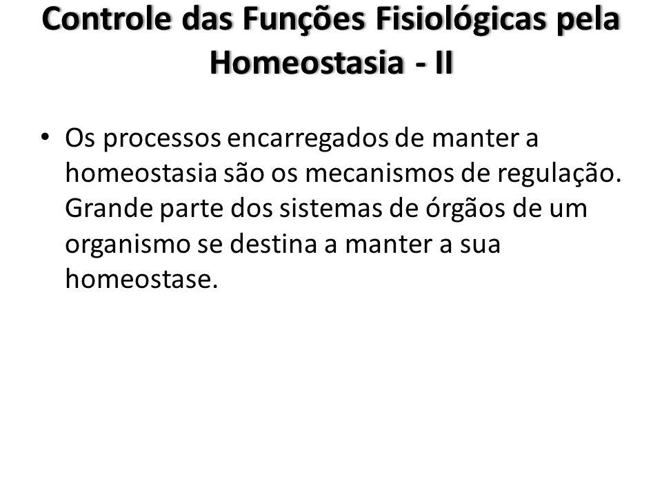 Controle das Funções Fisiológicas pela Homeostasia - II