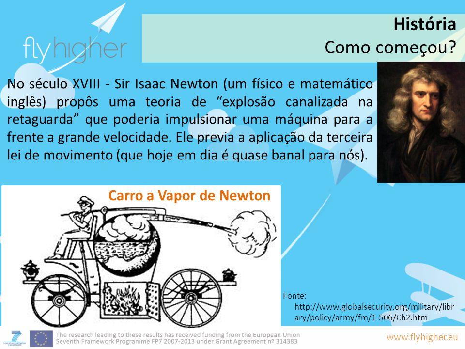 História Como começou Carro a Vapor de Newton