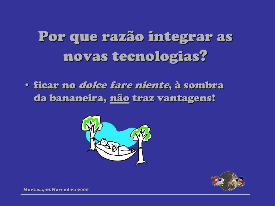 Por que razão integrar as novas tecnologias