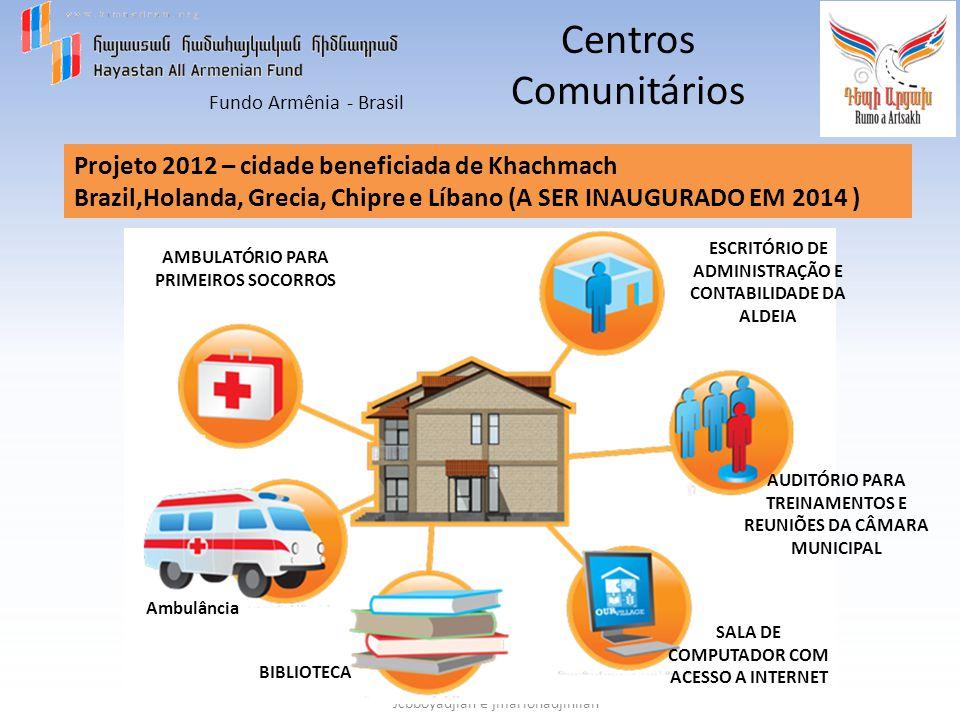 Centros Comunitários Projeto 2012 – cidade beneficiada de Khachmach