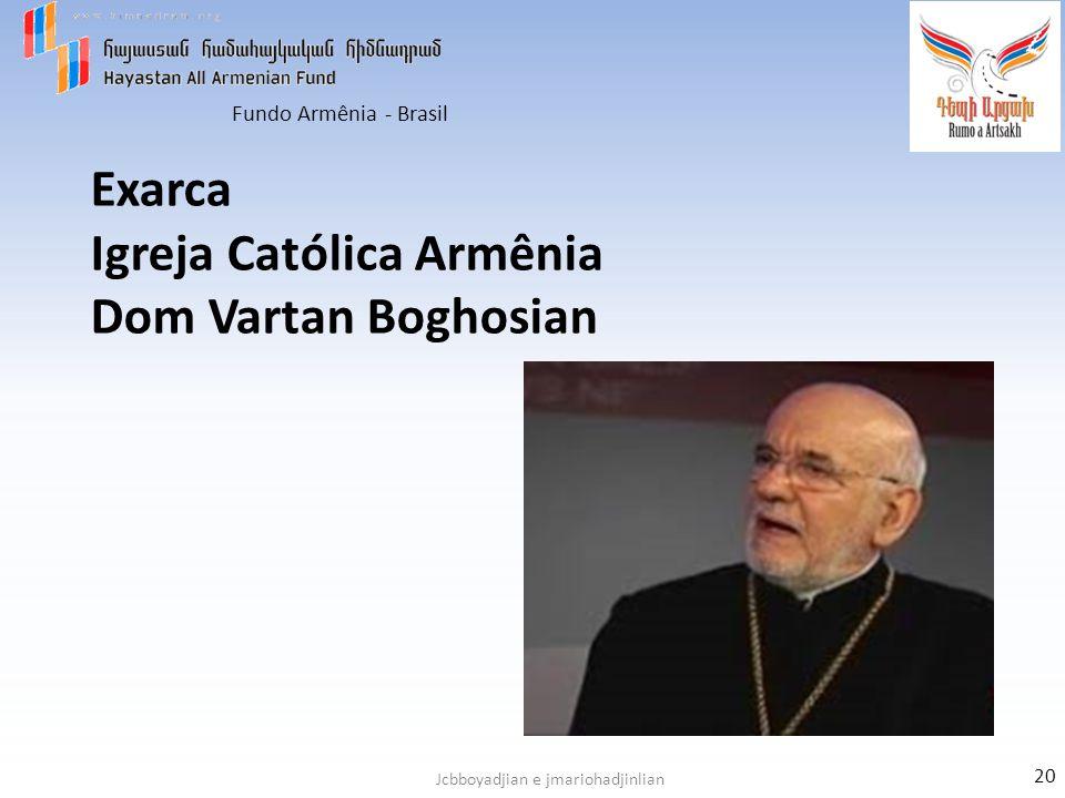 Exarca Igreja Católica Armênia Dom Vartan Boghosian