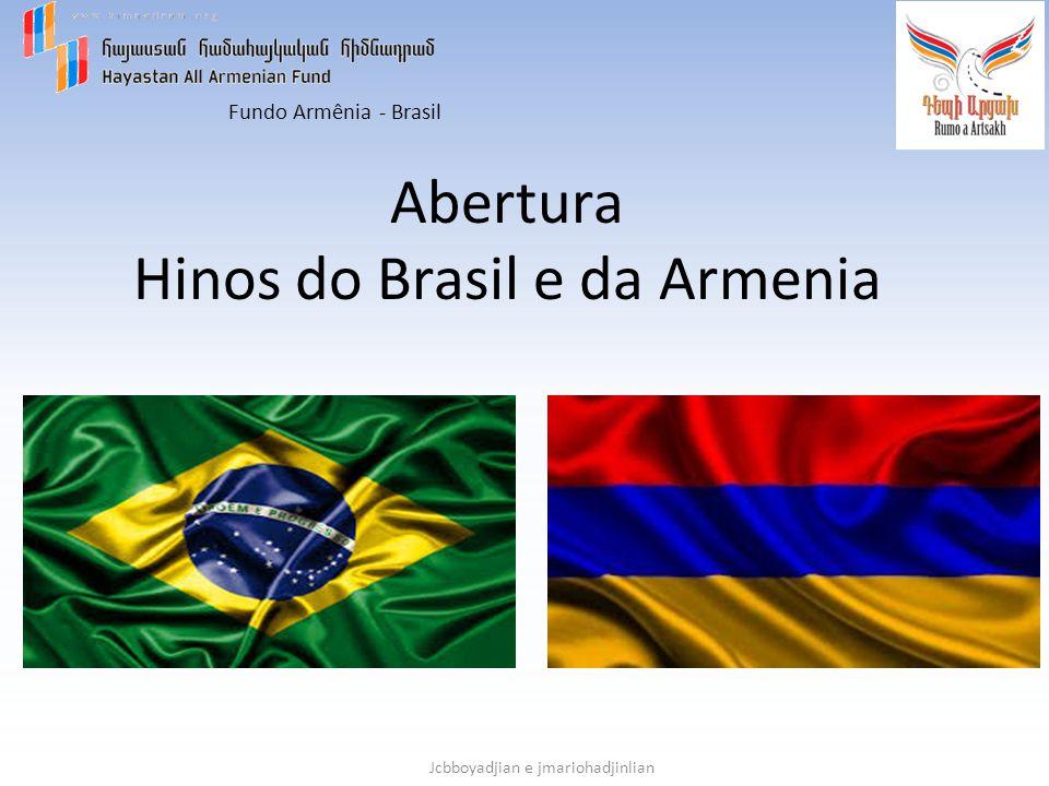 Abertura Hinos do Brasil e da Armenia