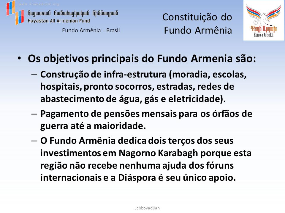 Constituição do Fundo Armênia