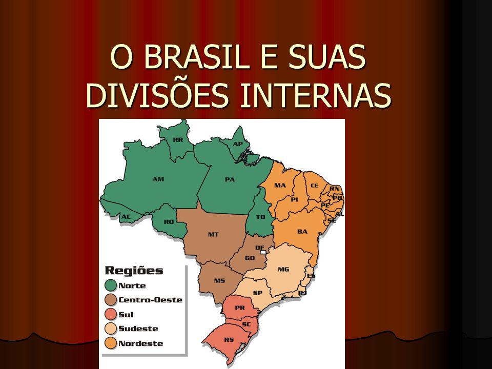 O BRASIL E SUAS DIVISÕES INTERNAS