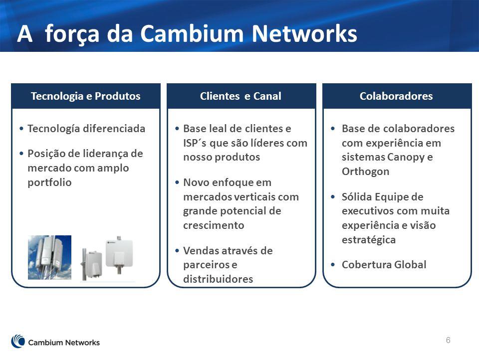 A força da Cambium Networks