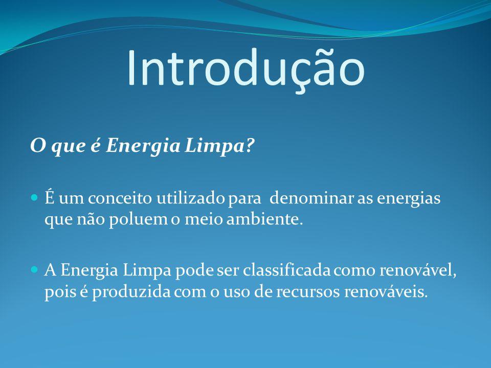 Introdução O que é Energia Limpa
