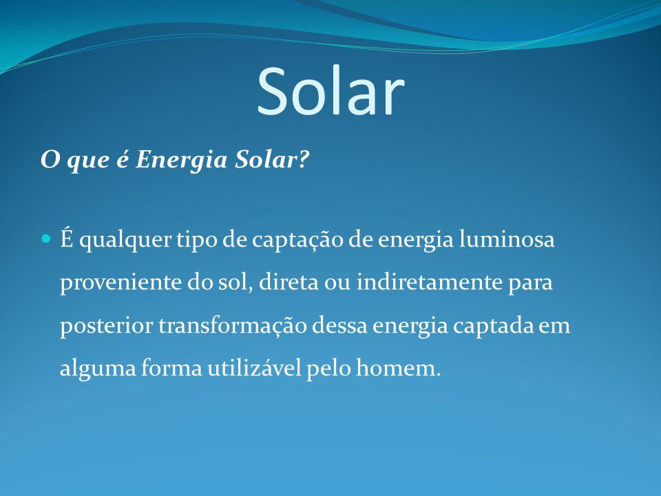 Solar O que é Energia Solar