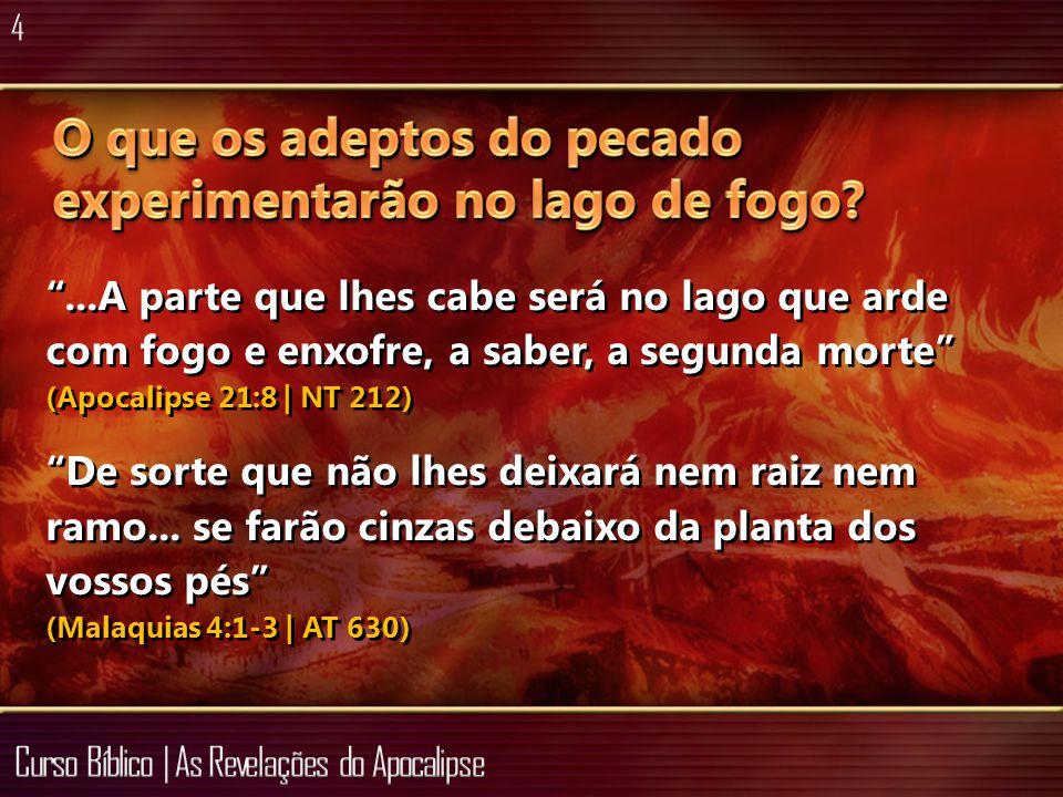 O que os adeptos do pecado experimentarão no lago de fogo