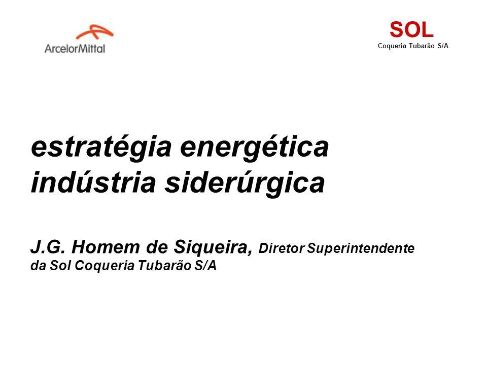 SOL Coqueria Tubarão S/A. estratégia energética indústria siderúrgica J.G.