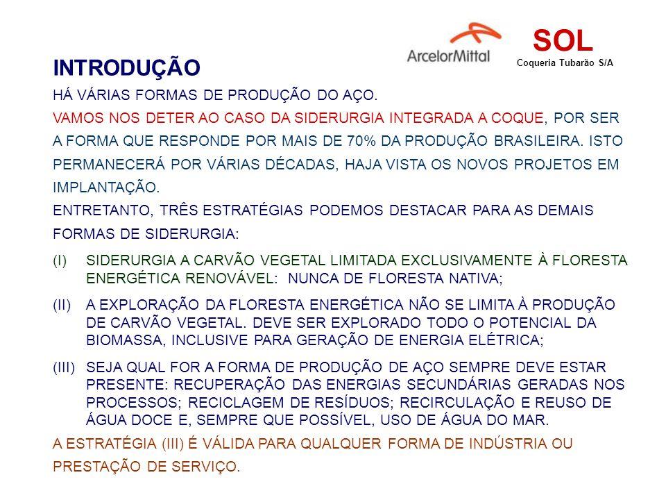 SOL INTRODUÇÃO HÁ VÁRIAS FORMAS DE PRODUÇÃO DO AÇO.