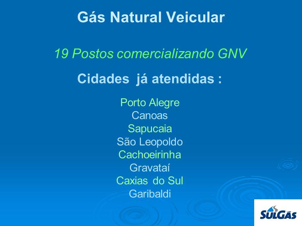 19 Postos comercializando GNV
