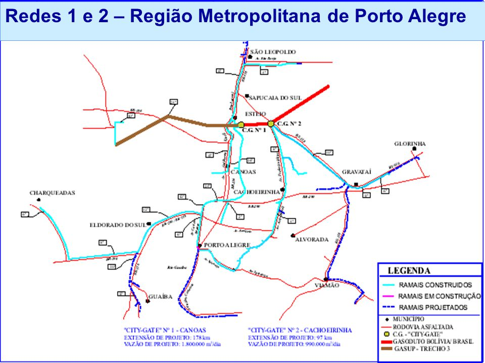 Redes 1 e 2 – Região Metropolitana de Porto Alegre