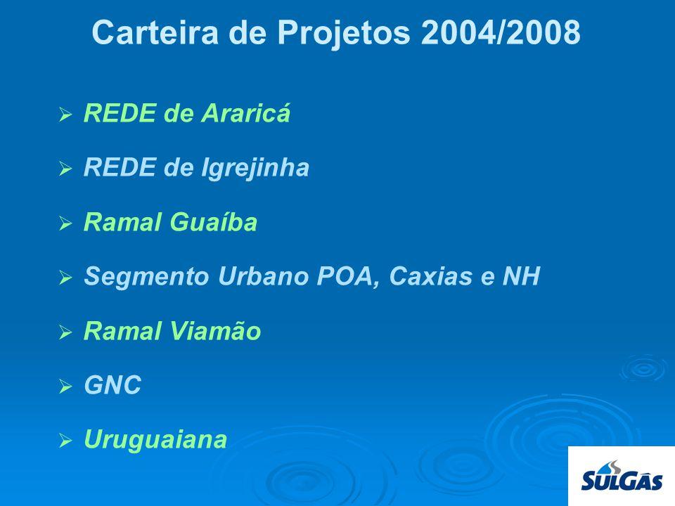 Carteira de Projetos 2004/2008 REDE de Araricá REDE de Igrejinha