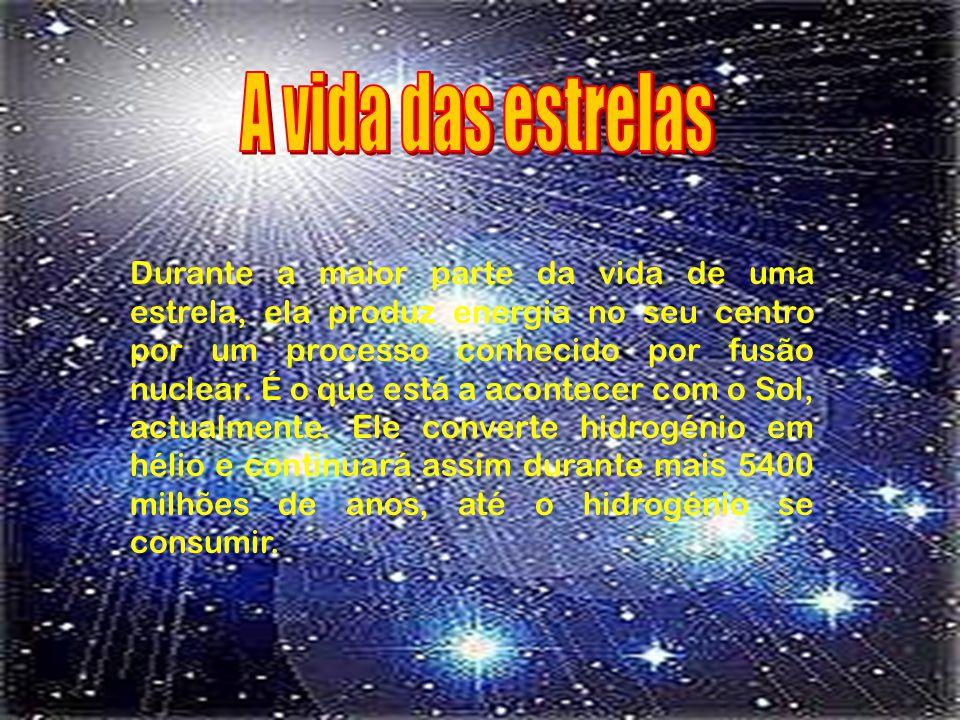 A vida das estrelas