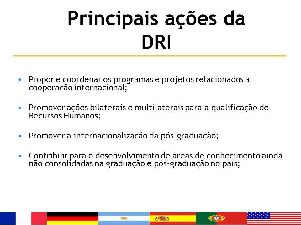 Principais ações da DRI