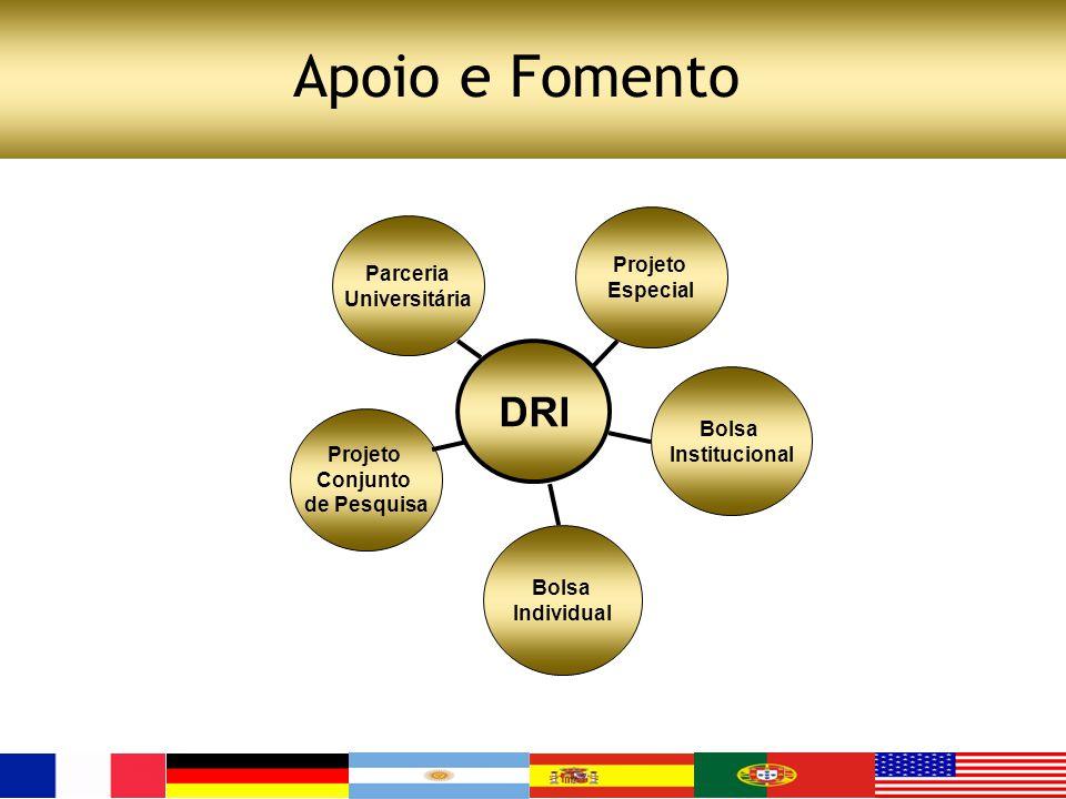Apoio e Fomento DRI Projeto Parceria Especial Universitária Bolsa