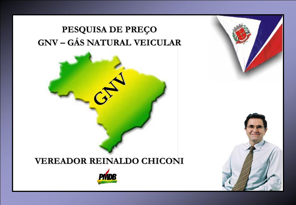 GNV – GÁS NATURAL VEICULAR VEREADOR REINALDO CHICONI