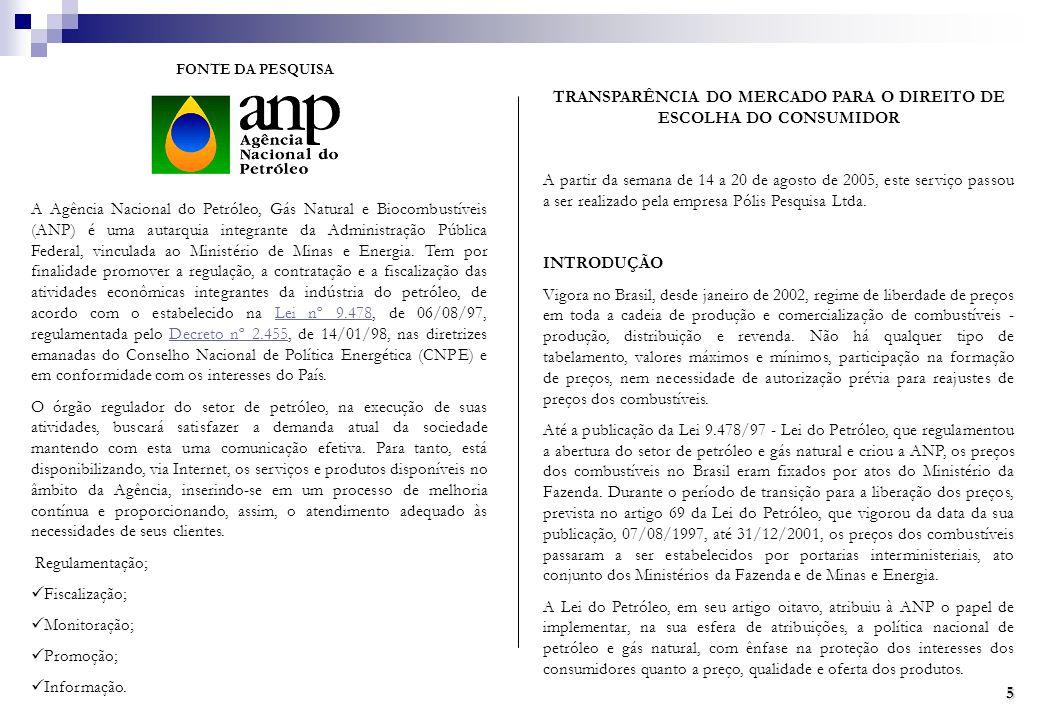 TRANSPARÊNCIA DO MERCADO PARA O DIREITO DE ESCOLHA DO CONSUMIDOR